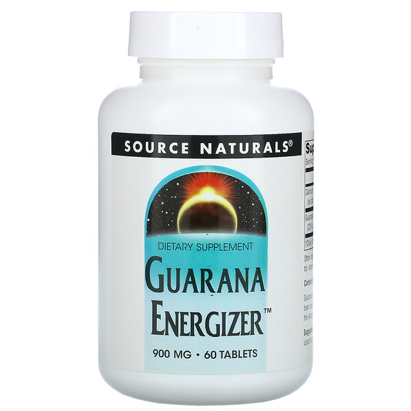 Guarana Energizer, 900 mg, 60 Tablets