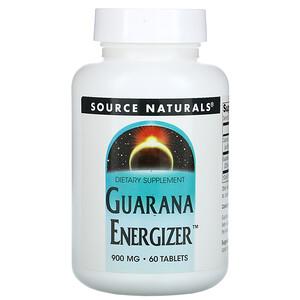 Сорс Начэралс, Guarana Energizer, 900 mg, 60 Tablets отзывы покупателей