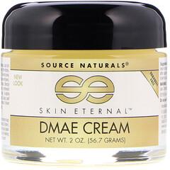 Source Naturals, DMAE 皮膚緊雅霜, 2 盎司 (56.7 g)