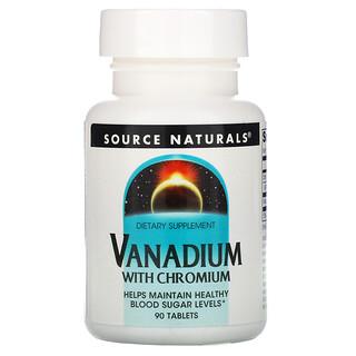 Source Naturals, ванадий с хромом, 90таблеток
