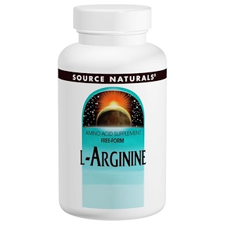 Source Naturals, L-Arginine, Free Form, 1000 mg, 100 Tablets