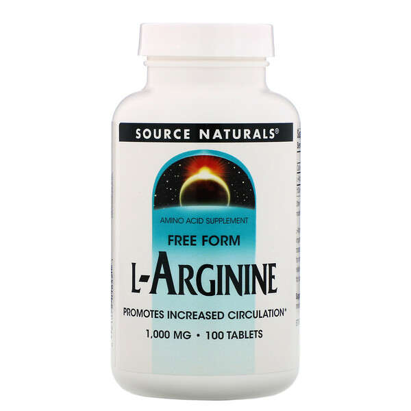 L-Arginine, Free Form, 1000 mg, 100 Tablets