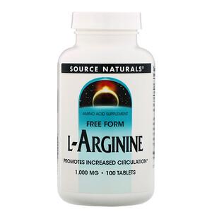 Сорс Начэралс, L-Arginine, Free Form, 1000 mg, 100 Tablets отзывы