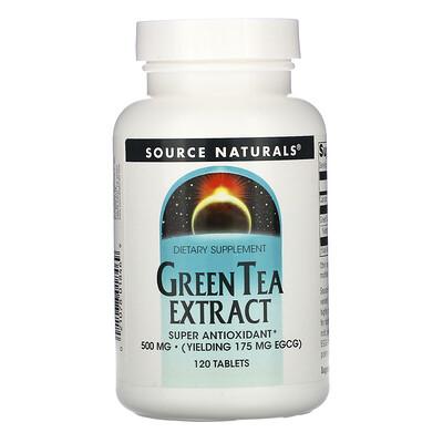 Source Naturals Экстракт зелёного чая, 500 мг, 120 таблеток