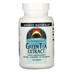 Source Naturals, 綠茶提取物,500 毫克,120 片