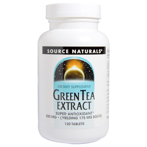 Green Tea Extract, 500 mg, 120 Tablets