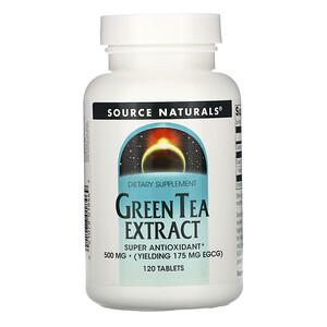 Сорс Начэралс, Green Tea Extract, 500 mg, 120 Tablets отзывы покупателей