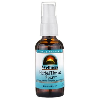 Source Naturals, Wellness, Herbal Throat Spray, 2 fl oz (59.14 ml)