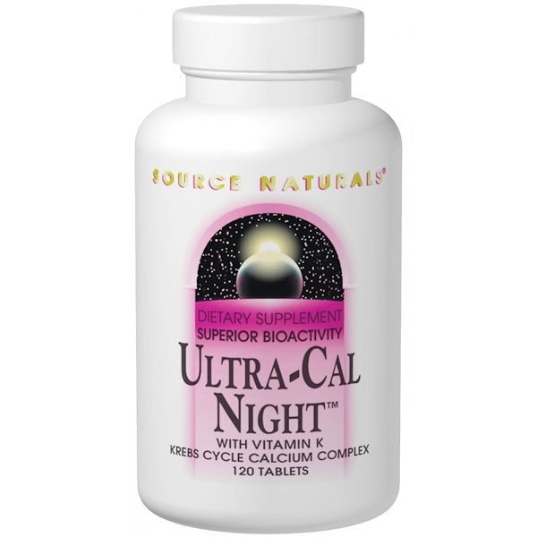 Source Naturals, Ultra-Cal Night, with Vitamin K, 120 Tablets (Discontinued Item)