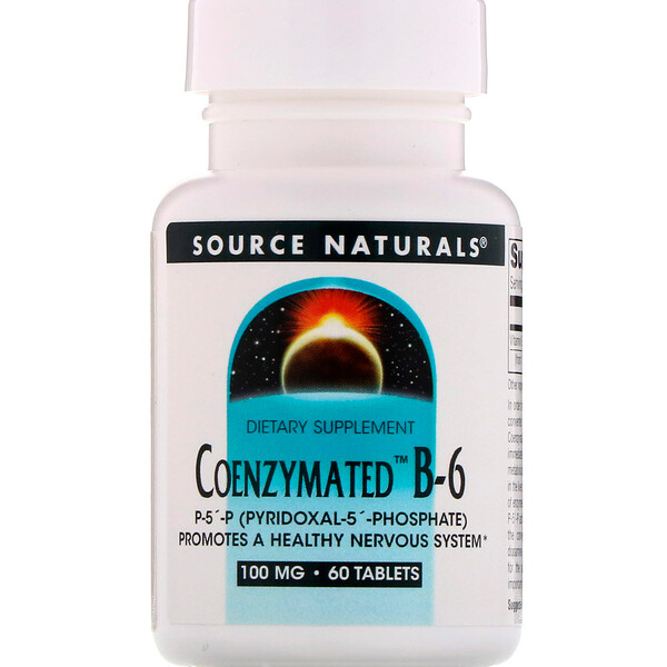 Coenzymated B-6, 100 mg, 60 Tablets