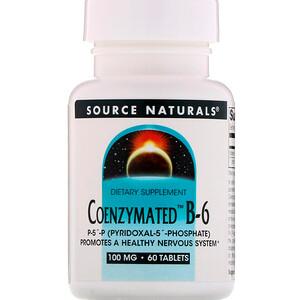 Сорс Начэралс, Coenzymated B-6, 100 mg, 60 Tablets отзывы