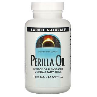 Source Naturals, Perilla Oil, 1000 mg, 90 Softgels