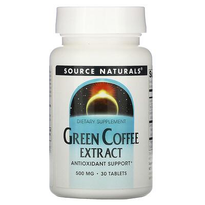 Купить Source Naturals Экстракт зелёного кофе, 500 мг, 30 таблеток