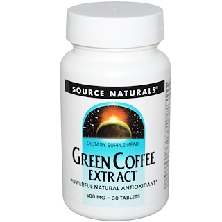 Source Naturals, Grüner Kaffee Extrakt, 500 mg, 30 Tabletten