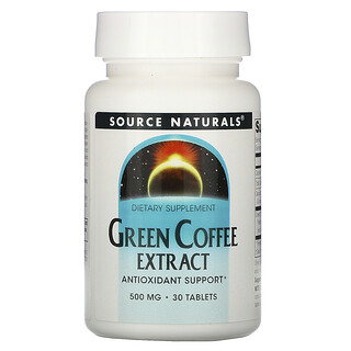 Source Naturals, Grüner Kaffee Extrakt, 500 mg, 30 Tabletten