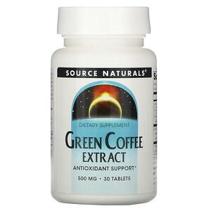 Сорс Начэралс, Green Coffee Extract, 500 mg, 30 Tablets отзывы покупателей