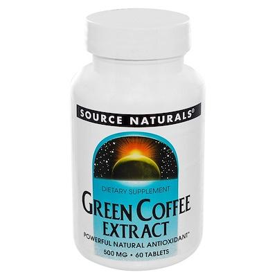 Экстракт зеленого кофе, 500 мг, 60 таблеток pycnogenol экстракт сосновой коры 50мг 30таблеток