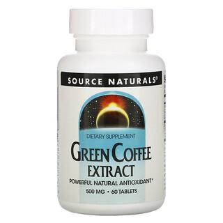 Source Naturals, Grünkaffee Extrakt, 500 mg, 60 Tabletten