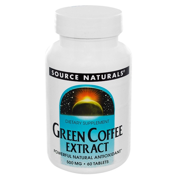 Source Naturals, Green Coffee Extract, 500 mg, 60 Tablets
