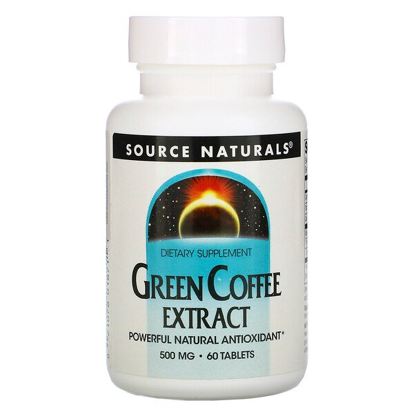 Green Coffee Extract, 500 mg, 60 Tablets