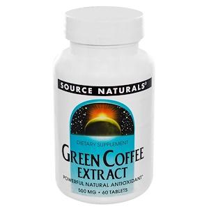 Source Naturals, Экстракт зеленого кофе, 500 мг, 60 таблеток