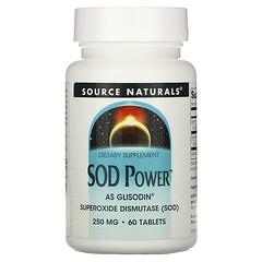 Source Naturals, SOD 力量,250 毫克,60 片