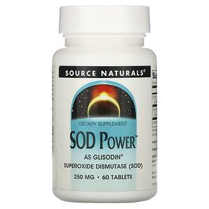 Сорс Начэралс, SOD Power, 250 mg, 60 Tablets отзывы