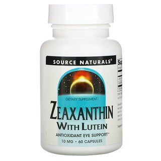 Source Naturals, Zeaxanthin with Lutein, 10 mg, 60 Capsules