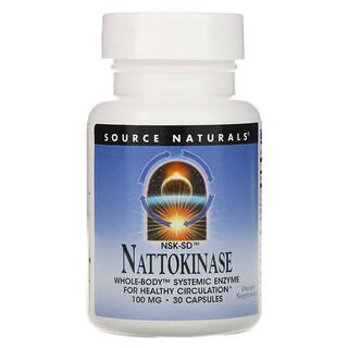 Source Naturals, NSK-SD Nattokinase, 100 mg, 30 Capsules