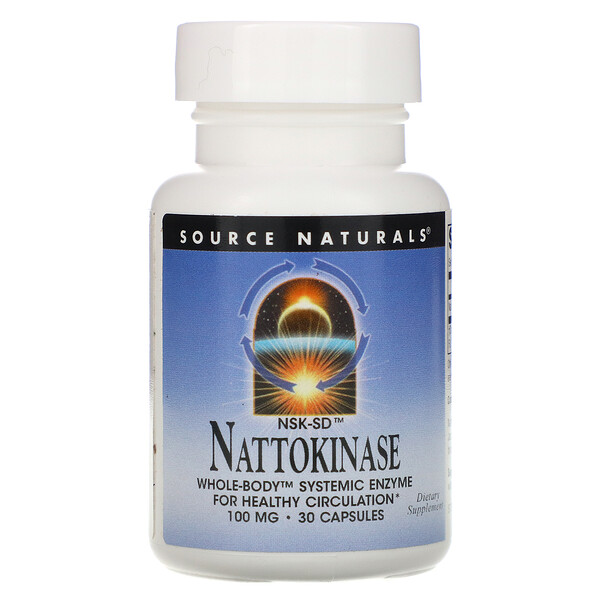 Source Naturals, NSK-SD, Nattokinase, 100 mg, 30 Capsules