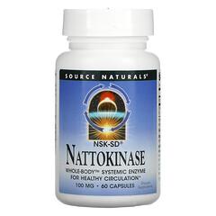Source Naturals, 納豆激酶,100 毫克,60 粒膠囊