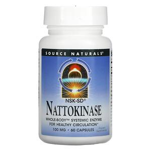 Source Naturals, Nattokinase, 100 mg, 60 Capsules
