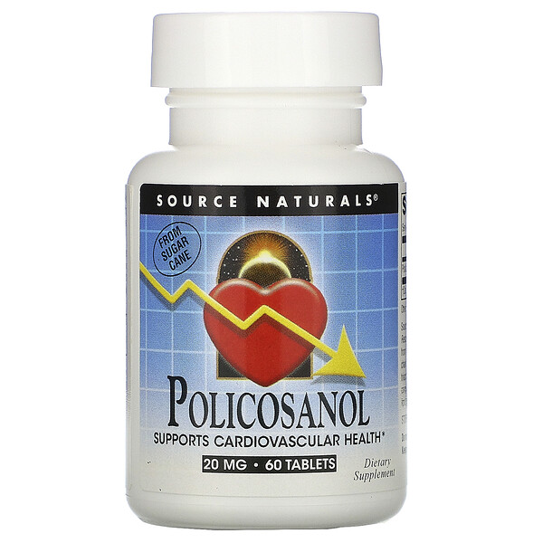 Source Naturals, Policosanol, 20 mg, 60 Tablets
