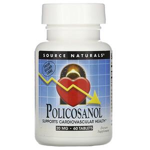 Сорс Начэралс, Policosanol, 20 mg, 60 Tablets отзывы покупателей