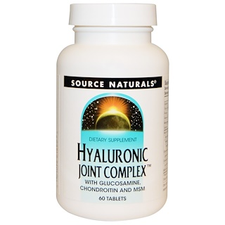 Source Naturals, Hyaluron-Gelenk-Komplex, 60 Tabletten