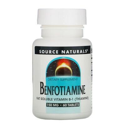 Купить Source Naturals Бенфотиамин, 150 мг, 60 таблеток