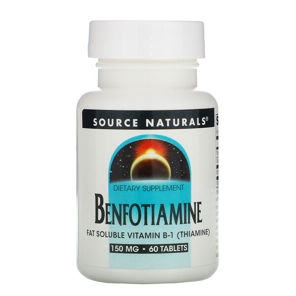 Source Naturals, Benfotiamine, 150 mg, 60 Tablets
