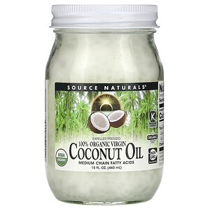 Сорс Начэралс, 100% Organic Virgin, Coconut Oil, 15 fl oz. (443 ml) отзывы