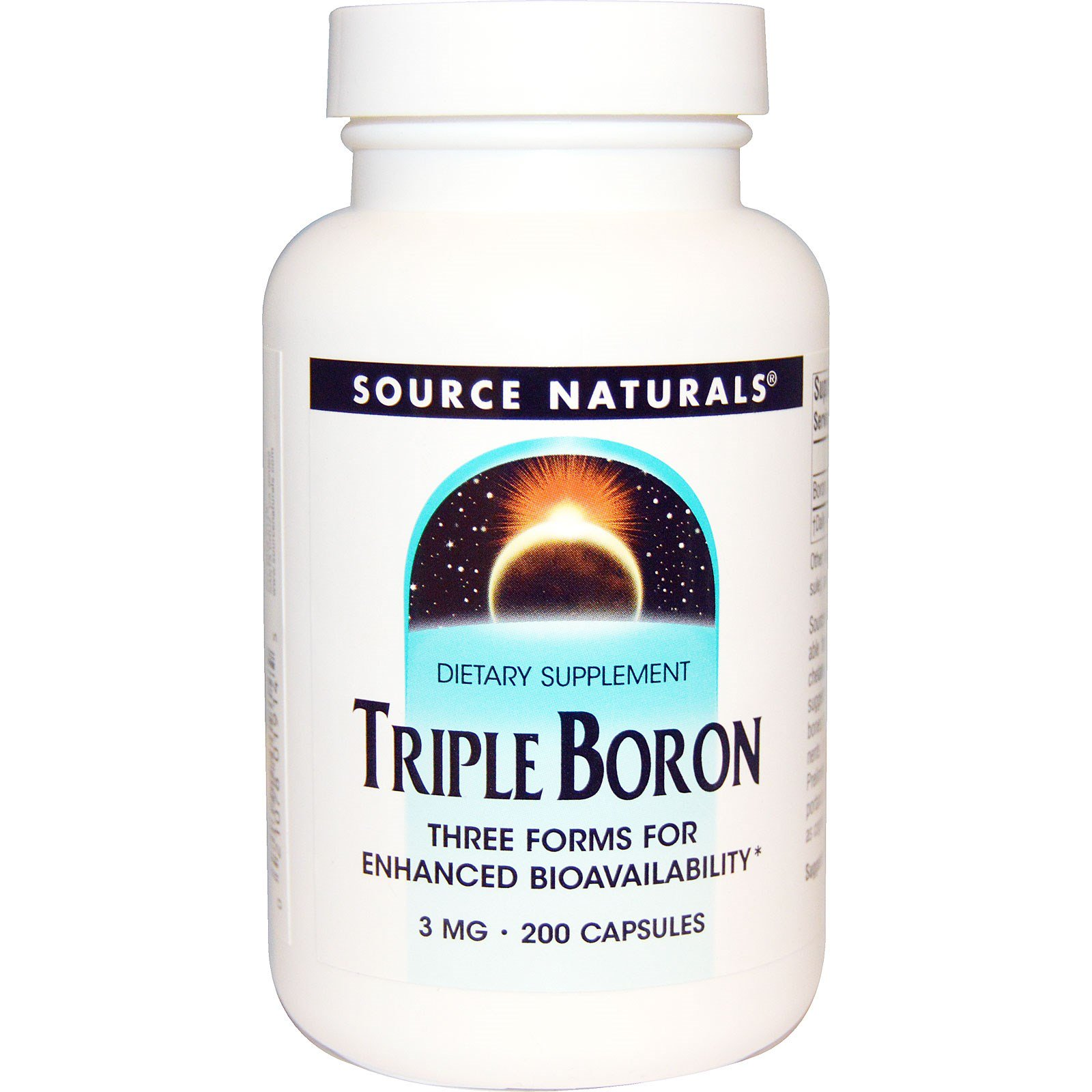 Source Naturals, Тройной бор, 3 мг, 200 капсул