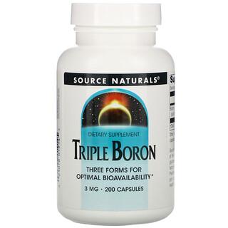 Source Naturals, Triple Boron, 3 mg, 200 Capsules