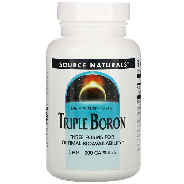 Triple Boron, 3 mg, 200 Capsules