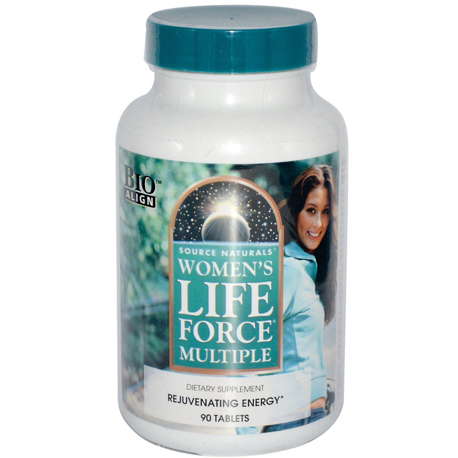 Source Naturals, Мультивитамины для женщин «Life Force», 90 таблеток