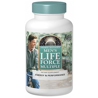 Source Naturals, Force de vie multiple pour hommes, 90 comprimés