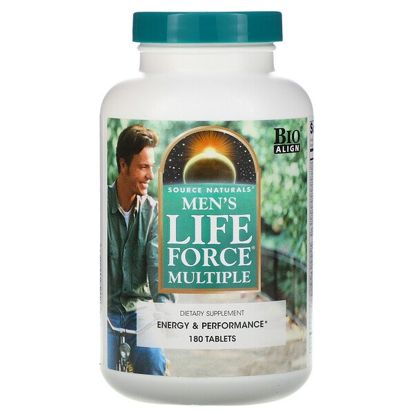 Source Naturals, Men's Life Force Multiple, 180 таблеток