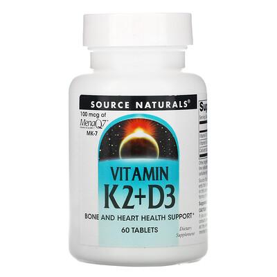 Source Naturals витаминK2иD3, 60таблеток