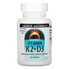 Source Naturals, 維生素 K2 + D3,60 片裝