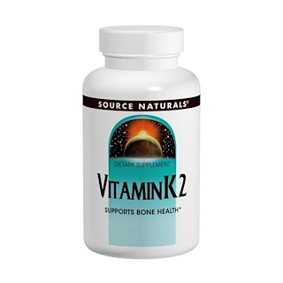 Source Naturals, Vitamin K2, 100 mcg, 60 Tabletten