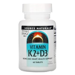 Source Naturals, Vitamin K2 + D3, 60 Tablets