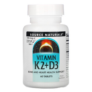 Сорс Начэралс, Vitamin K2 + D3, 60 Tablets отзывы