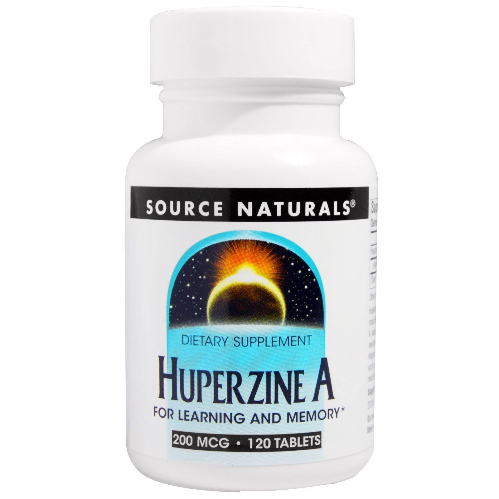 Source Naturals, Гиперзин, 200 мкг, 120 таблеток